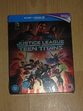 Justice League Vs Teen Titans Limited Edition UK Steelbook Blu-ray