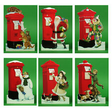 150 Pillar Box Xmas Gift Cards with a Detachable Miniature Envelope Being Posted