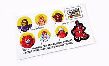 MOTU Masters of the Universe replacement stickers for 1984 ORKO tokens + Bonus??