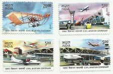 INDIA 2012 MNH CIVIL AVIATION AEROPLANE AIRCRAFT HELICOPTER AIRPLANE JET AIRPORT