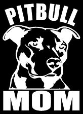 PITBULL MOM Vinyl Decal Sticker Car Window Bumper Wall I Love My Rescue Dog