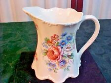 Exquisite St. George Fine Bone China Floral Design Small Handled Pitcher/Creamer