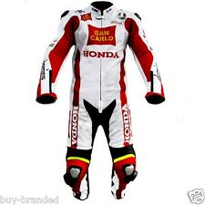 RACING BIKER Motorcycle Leather Suit Racing Cowhide Leather Suit ONE PIECE