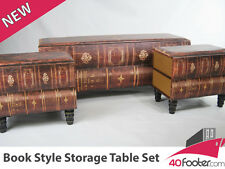 Antique Vintage Industrial Look  Blanket Box Trunk Table Chest Set Brand NEW