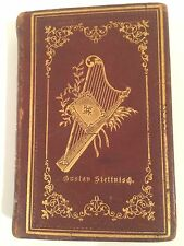 ANTIQUE, BEAUTIFUL GERMAN HYMN BOOK, LEATHER COVER 1890