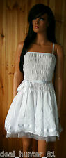 Sisters Point White Mini Dress 8/S/36 Sweet Trapeze Mini + Belt for Party 39/9