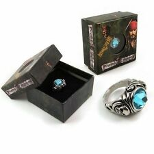 New Disney Pirates of the Caribbean Skull Blue Crystal Ring Ornaments Cool gifts
