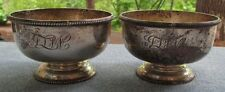 TWO Mappin and Webb Sterling Silver Footed Bowls ENGLAND