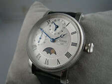43mm GMT Asiatico movimento Parnis Moonphase orologio stile vintage OMAGGIO UK superba