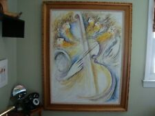 "ZAMY STEYNOVITZ OIL ON CANVAS LARGE PAINTING 29 1/2"" X 39 1/2"""