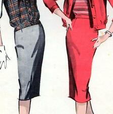 "Vintage 50s PENCIL SKIRT & JACKET Sewing Pattern Waist 26"" Size 10 Retro OUTFIT"