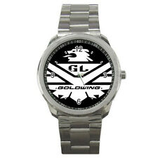 New HONDA goldwing LOGO style sport metal WATCH FREE shipping