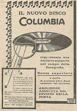 W5650 Il nuovo disco COLUMBIA - Pubblicità 1925 - Advertising