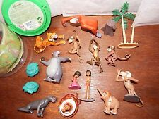 RARE Disney Jungle Book figure toy playset Mowgli Kaa Shere Khan Hathi + tub