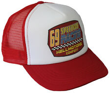 Speedway Trucker Mesh Cap Rot Weiss Hot Rod V8 US Car Basecap Mütze OldSchool