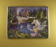 Dream Castles REMEMBER Plate #8 Mimi Jobe Fairies Fairy Unicorn MIB + COA Castle