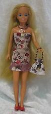 Clothes for VINTAGE SKIPPER Barbie Dolls #05 Dress, Purse & Beaded Necklace