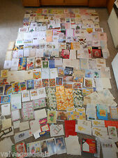 Lot of 250 Vintage Old & New Greeting Cards Christmas Birthday Holiday Mixed Set