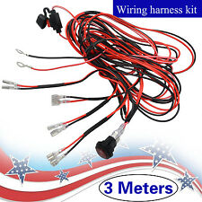 9.8ft  Wiring Harness Kit ON/OFF Switch For Lead LED Work Fog Light Bar Off road