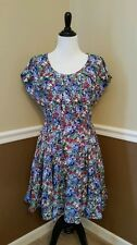 NWT Pretty Vacant $72 Burgundy~Blue~Green Floral Dress M Modcloth Indoor Retro