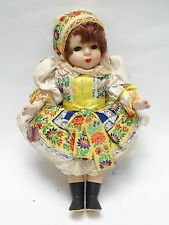 VINTAGE 60's CZECH LIDOVA TVORBA UH BROD WOMAN CLOTH COSTUME DOLL * 13""""