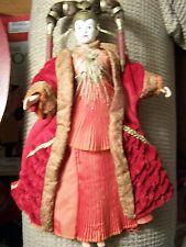 Hasbro Star Wars Queen Amidala Red Senate Gown Doll 1999 Action Figure