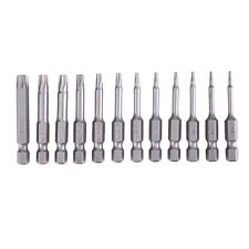 12pcs Screw Driver Drill Bits Guide Security Bit Set Tamper Hex Torx Flat Head