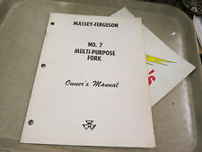 Massey-Ferguson Owner's Manual No. 7 Multi Purpose fork