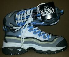 SKECHERS Women's ENERGY - EQUALIZER 76004 WLGB Work Shoes Gray/Blue Size 6.5 NEW