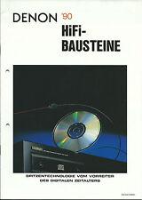 Denon Katalog Prospekt 1990 / DCD3560 POA6600A DAP5500 POA2400 PRA1500 PMA1520