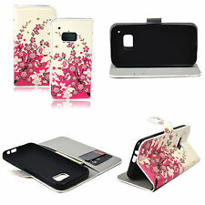 Leather Card ID Book Flip Phone Soft Cover Case Skin Stand For HTC ONE M9