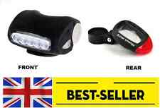 front rear led lights set - solar energy led road city bike cycle UK STOCK