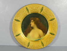 1905 Vienna Art Plate w/ Beautiful Girl From Joslin Dry Goods Denver Colorado