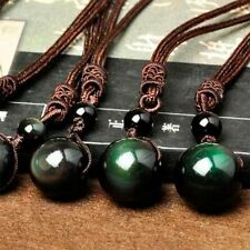 Lucky Transfer Crystal For Lovers Beads Obsidian Eye Pendant Rainbow Ball