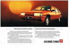 Publicité Advertising 1988 (2 pages) Citroen BX Diesel Turbo
