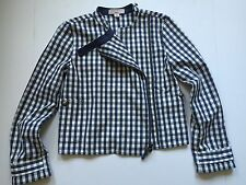 NWOT Stella McCartney For GAP Gingham Moto Jacket Size XL (12)