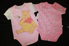 NWT Infant Girls Clothing Disney Baby Pooh Bear 2 Pc Romper Set 0-3 months