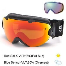 Smith Optics I/OS Goggle -- Black/Red Sol-X Mirror