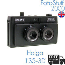 HOLGA 135-3d STEREO 35mm Film Camera Lomo immagini stereo 3d Nero | UK STOCK