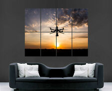 DRONE RADIO CONTROLLED SUNSET CLOUDS GIANT WALL POSTER PICTURE PRINT LARGE HUGE