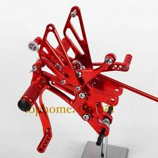 CNC Adjusting Rearset Footpegs Rear Set For Yamaha YZF R1 2004 2005 2006 Red