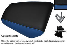 BLUE & BLACK CUSTOM FITS HONDA CBR 125 04-10 REAR PASSENGER LEATHER SEAT COVER