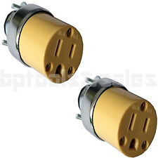 2pc Female Extension Cord Replacement Electrical Plugs 15AMP 125V End