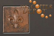 FLEUR DE LIS COPPER TILE MATCH KITCHEN BATHROOM SINK
