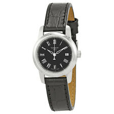 Tissot Classic Dream Black Dial Black Leather Ladies Watch T0332101605300