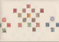 DENMARK DANMARK STAMPS OLD TIME ALBUM PAGE No 1 WITH RARE EARLY POSTAGE STAMPS