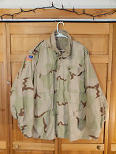 US Army 3 Color Desert Camo M-65 Cold Weather Field Jacket, Size Large Long