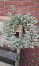 Baby's Breath Dried Flower wreath, wedding cottage decor decoration hand woven