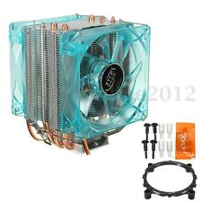 Copper LED Dual Fan CPU Cooler Heat Sink For Intel LGA1155 1156 1150 i7 i5 AMD