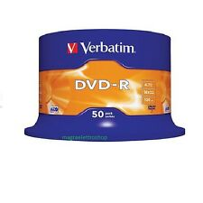 50 DVD-R VERBATIM 16X 4.7 GB SUPPORTI vergini Advanced Azo MATT SILVER